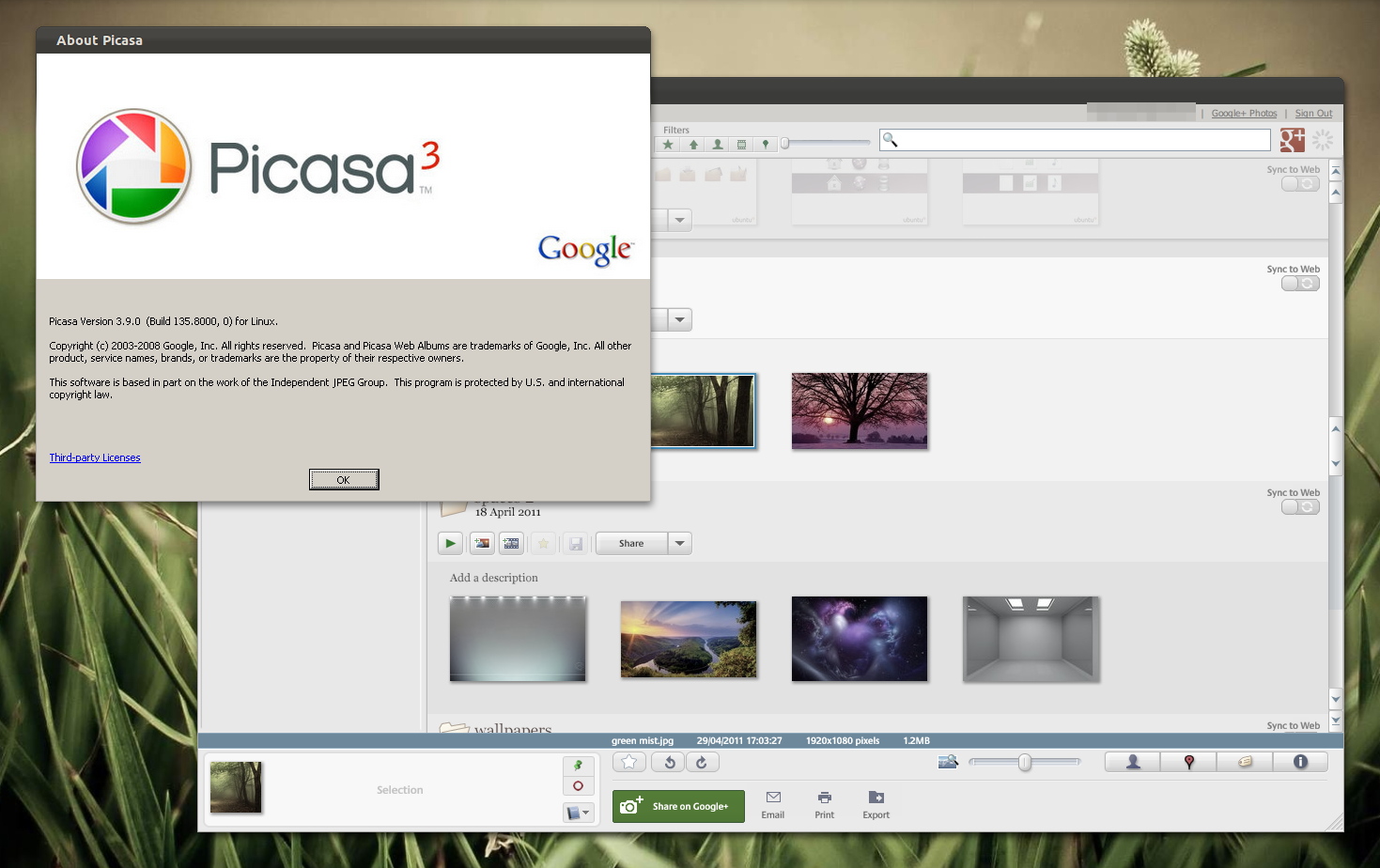 Install Picasa 3 9 In Linux And Fix Google Sign In Issue