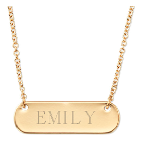 Stella & Dot Signature Engravable Necklace as seen on Nashville