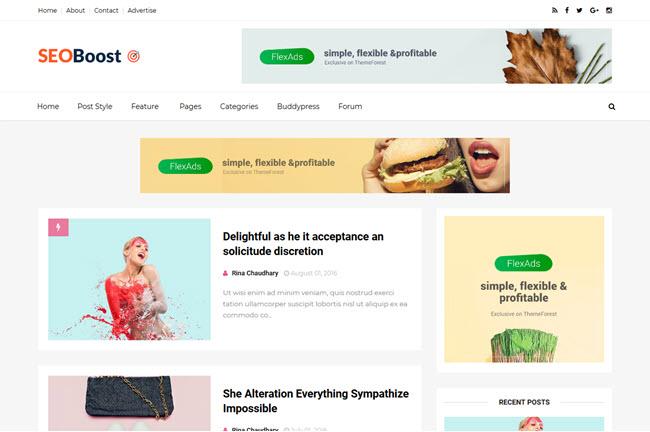 Seo Boost - Responsive Blogger Template