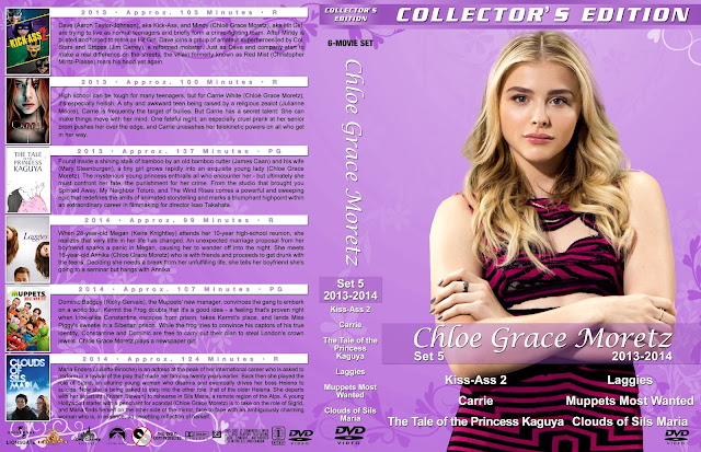 Chloe Grace Moretz Collection Set 5 Large Spine DVD Cover