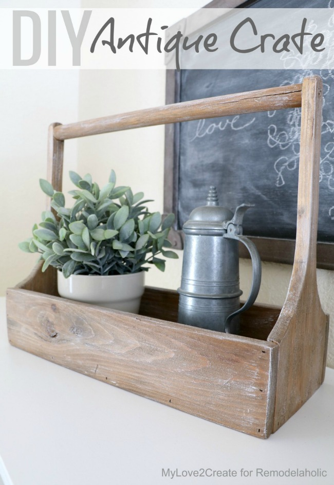How to build an Antique Crate, free plans MyLove2Create