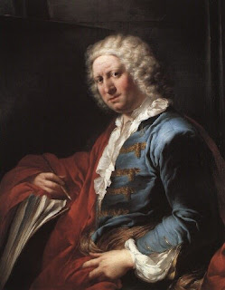 Giovanni Paolo Panini, in a portrait by  Louis Gabriel Blanchet