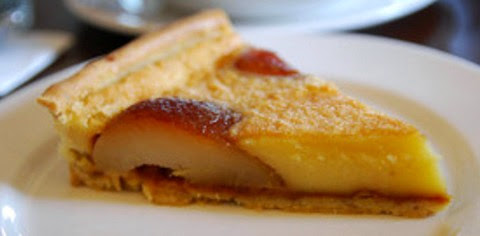Caramelized Pear and Rum Custard Tart