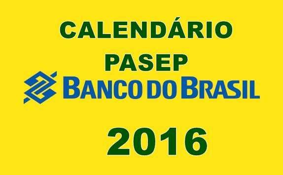 Calendário do PASEP 2016