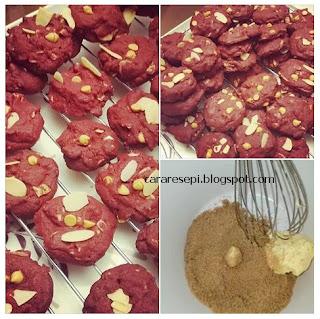 Biskut Red Velvet Sukatan Cawan