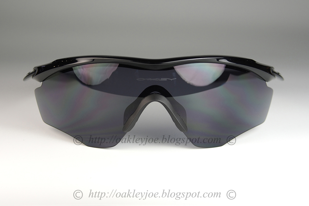 061987fba7 oo9343-04 M2 Frame XL standard fit polished black + black iridium  205 lens  pre coated with Oakley hydrophobic nano solution
