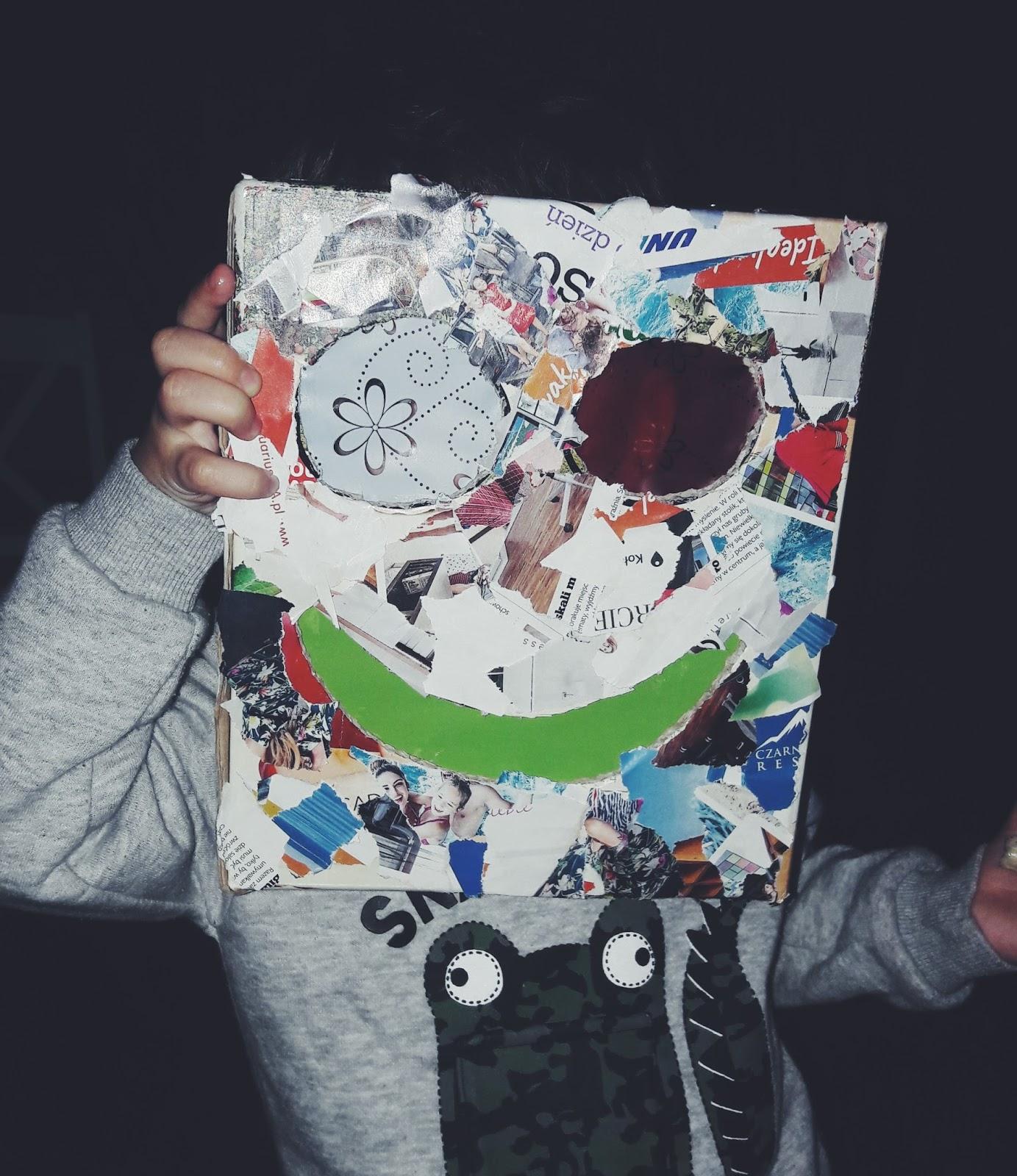 Cudowna maska robota - blog tocusiowo - maska gotowa