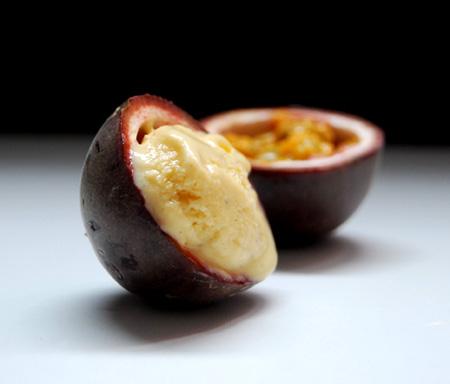 Glace Aux Fruits De La Passion Sans Sorbetiere Pralinette En