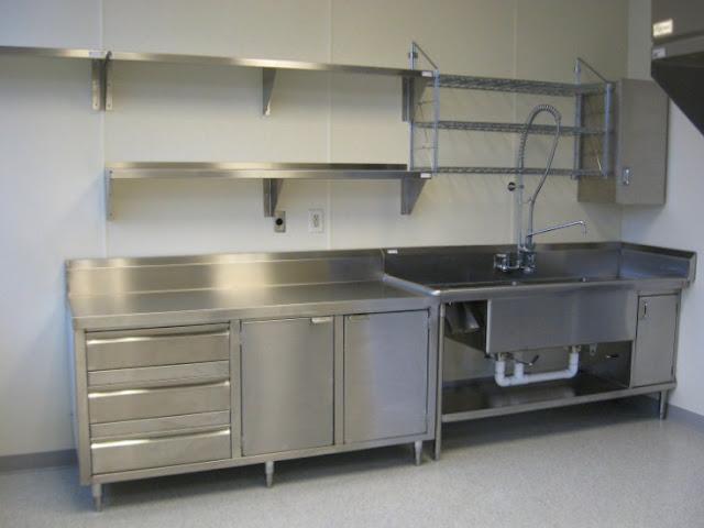 Contoh model rak piring stainless dapur minimalis
