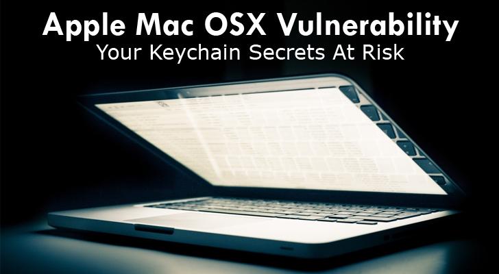 Critical Apple Mac OSX Vulnerability Grants Keychain Access to Malware