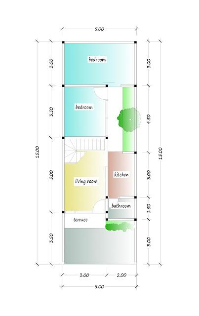1st floor plan of beautiful house plan 05