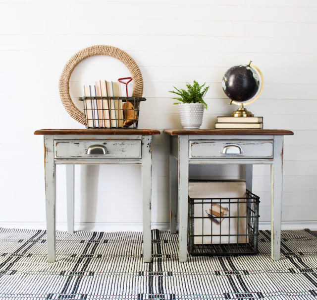 Twin End Tables Bedford Fusion Mineral Paint Team Sutton Designs