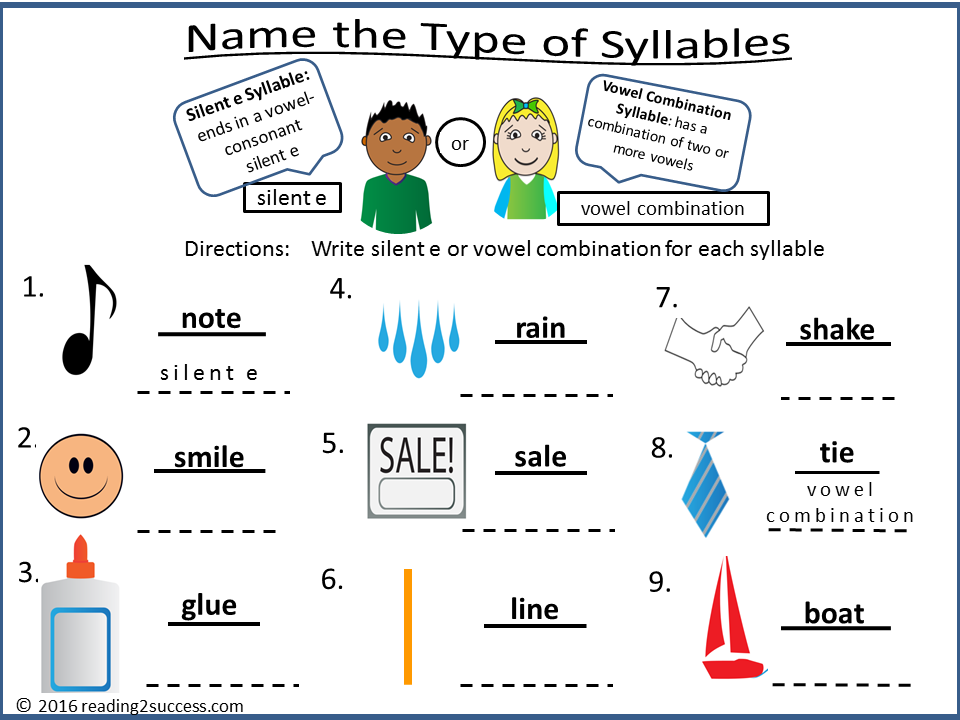 Reading2success 6 Syllable Types Free Resources and Activities – Consonant Le Worksheets