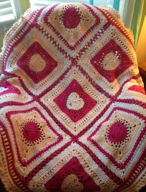 Heart Blanket - Free Pattern
