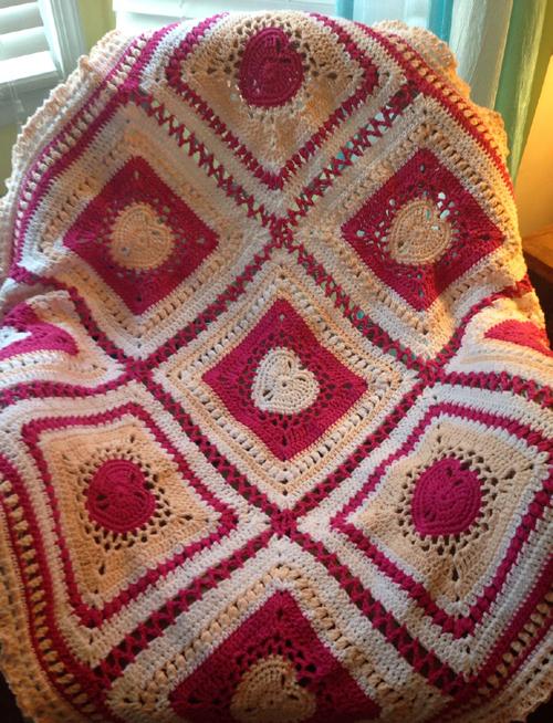 Heart Blanket - Free Pattern