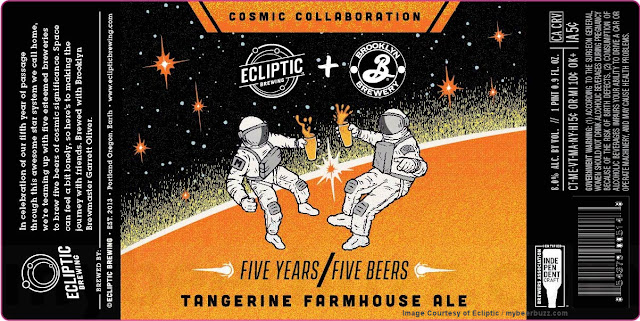 Ecliptic & Brooklyn Brewery Collaborate On Tangerine Farmhouse Ale