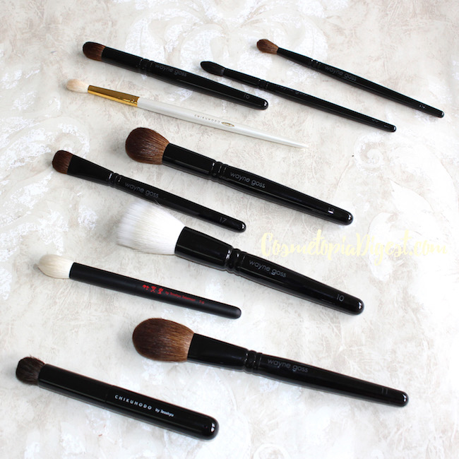 Makeup brushes from Japan