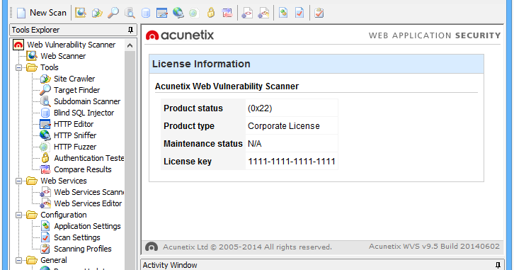 acunetix vulnerability scanner 9.5 cracked