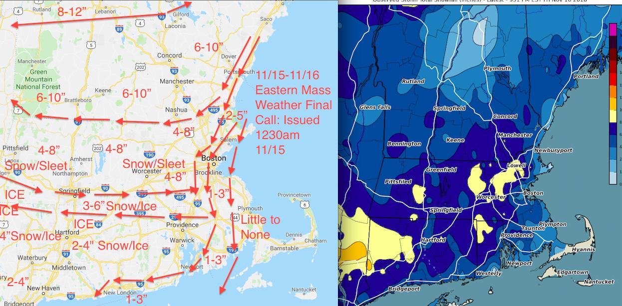 11/15-11/16 Verification | Eastern Mass Weather
