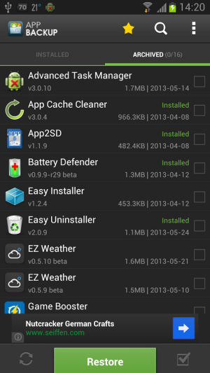 App Backup and Restore Android App