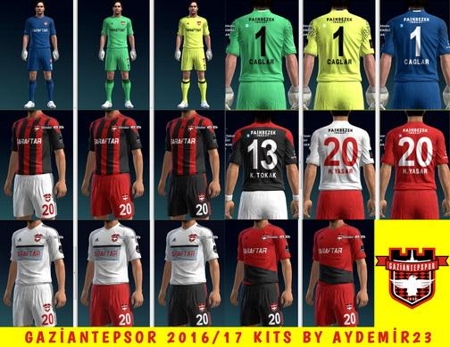 PES 2013 Gaziantepspor 2016/17 Kits by aydemir23