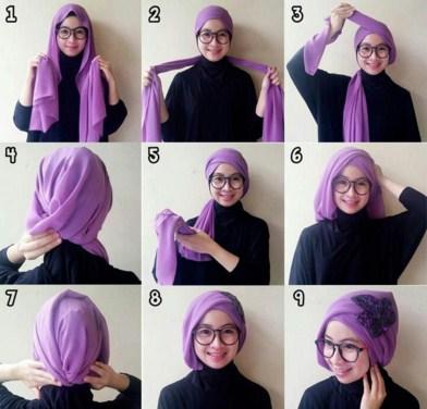 Kreasi Hijab Turban Pashmina