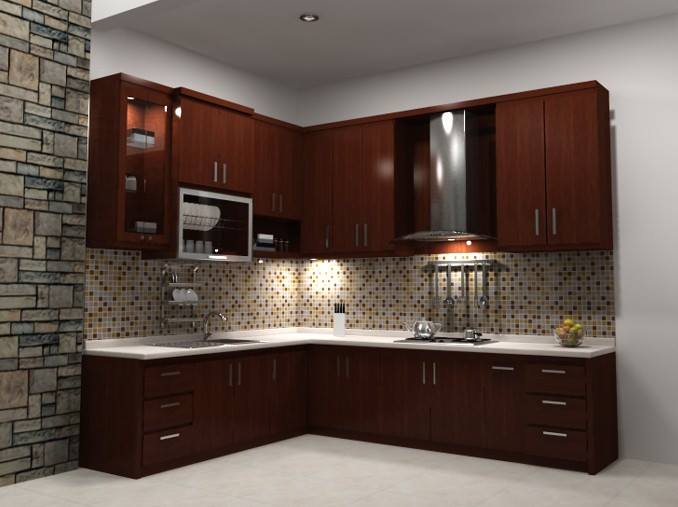 Model dapur sederhana dengan perabot dari kayu dan kitchen for Katalog kitchen set