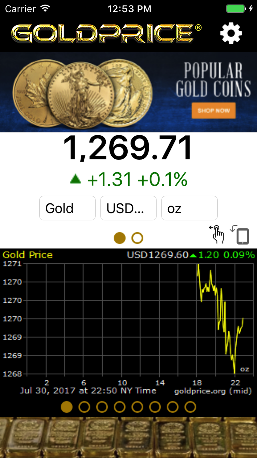 Gold price iphone app buycottarizona Images