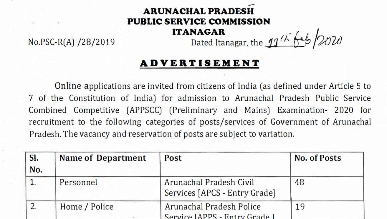 APPSC Civil Service 2020