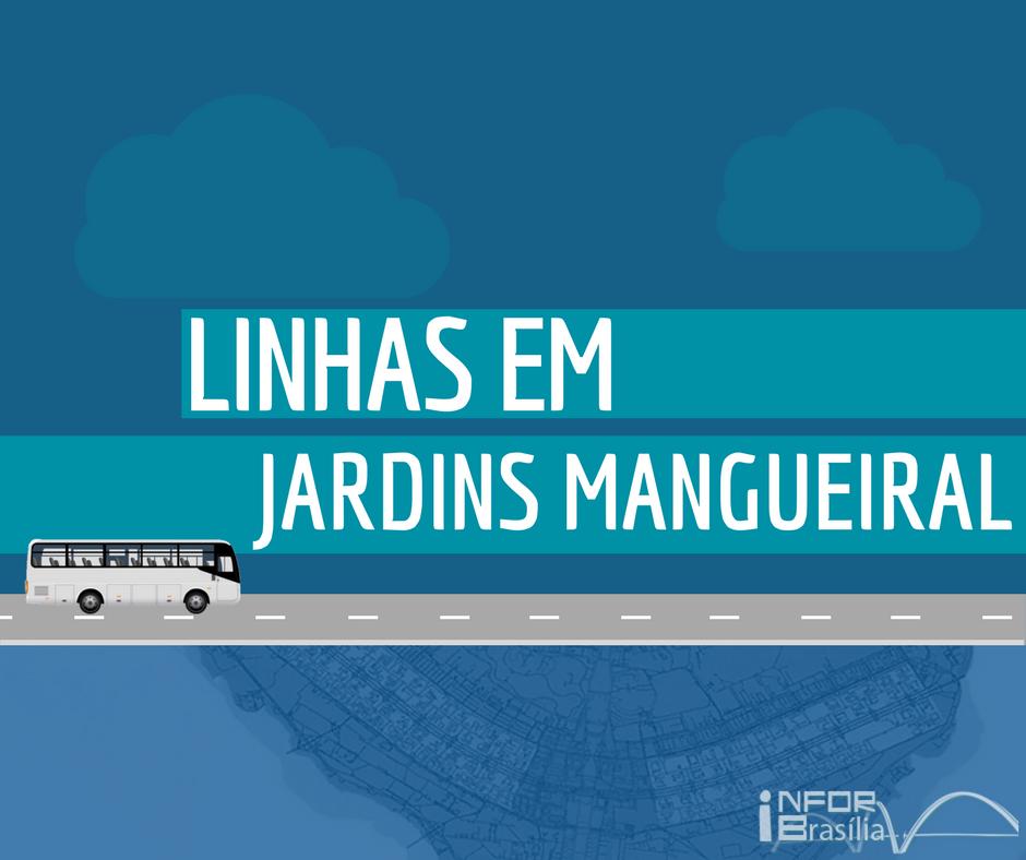 Horário de ônibus das linhas do Jardins Mangueiral