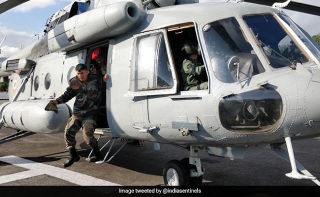 Stranded tourists and locals airlifted by helicopters in North Sikkim