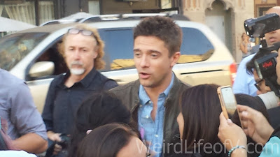 Topher Grace at the American Ultra Red Carpet Premiere