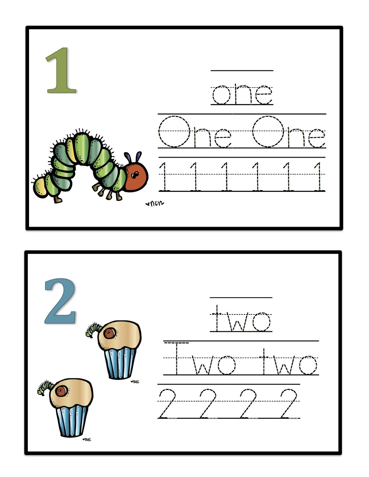 Number Cards To Trace 1 10
