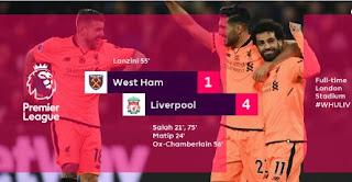 Liverpool Menang 4-1 di Kandang West Ham United - Highlights