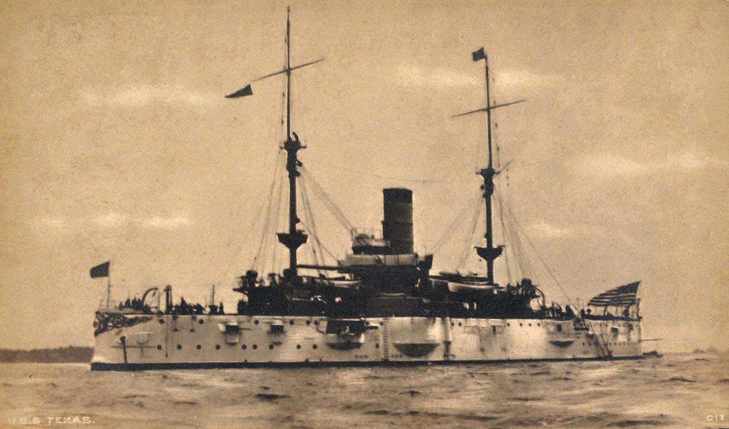 uss texas postcard by the rotograph company of new york (hampton roads  naval museum collection)