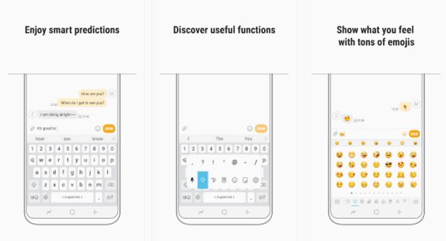 سامسونج لوحة المفاتيح التطبيق يذهب مباشرة في متجر غوغل بلاي