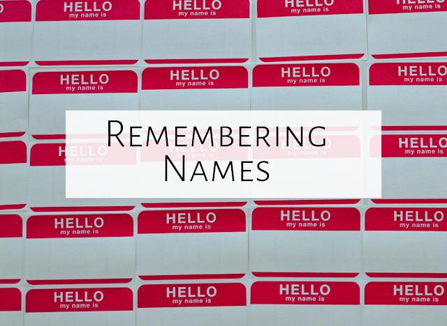 6 strategies for remembering 600+ names