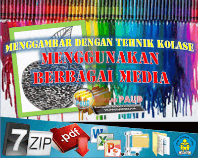Menggambar Dengan Tehnik Kolase Menggunakan Berbagai Media