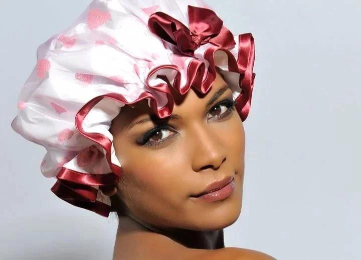 beautiful shower cap for rainy season
