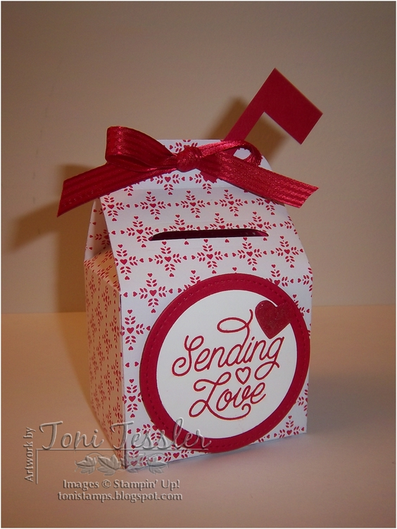 Tonistamps mini pseudo mail box valentine for Mini tin mailboxes for crafts