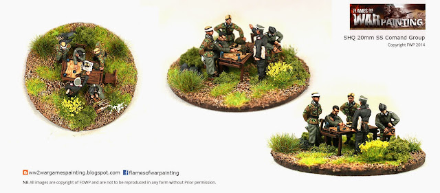 SHQ 20mm SS Command Group painting by FWP Flames of War Painting