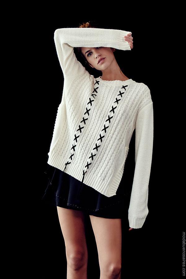 Moda sweaters tejidos invierno 2018.