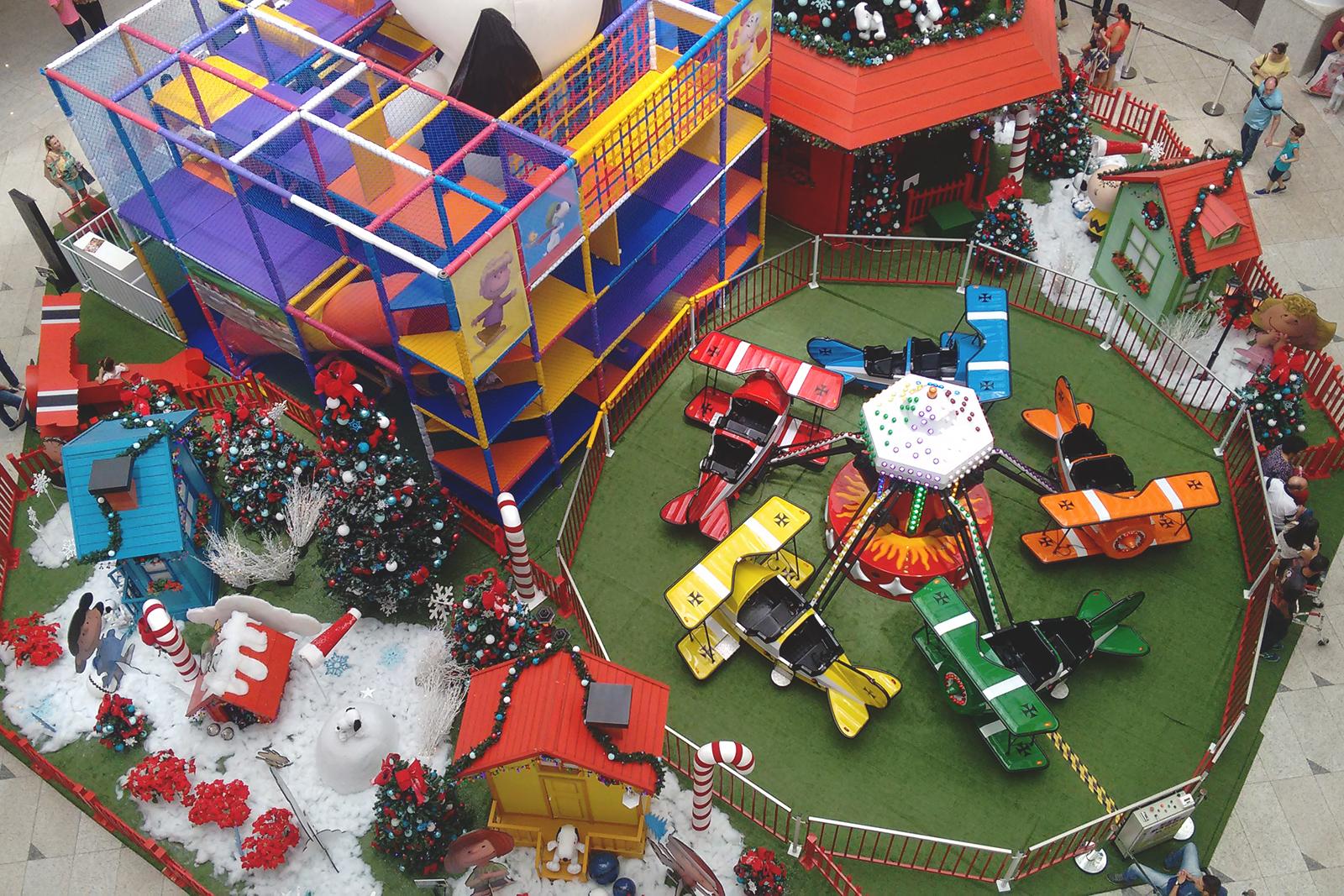 decoração natal snoopy shopping bauru