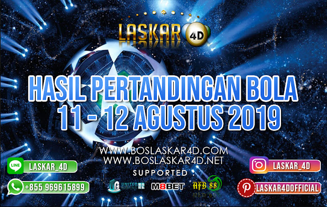 HASIL PERTANDINGAN BOLA 11 – 12 AGUSTUS 2019
