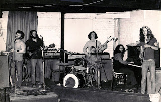 Mammal, 1972 (at Lucifer's Nightclub). Left to right Rick Bryant, Bill Lake, Patrick Bleakley, Mike Fullerton, Tony Backhouse, Robert Taylor