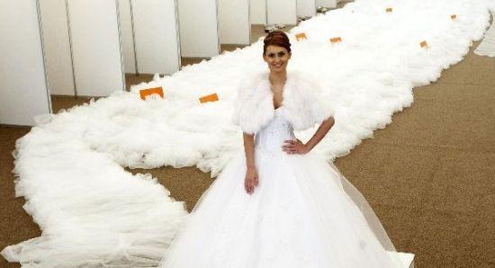 Tail Wedding Dresses Ideas White Color