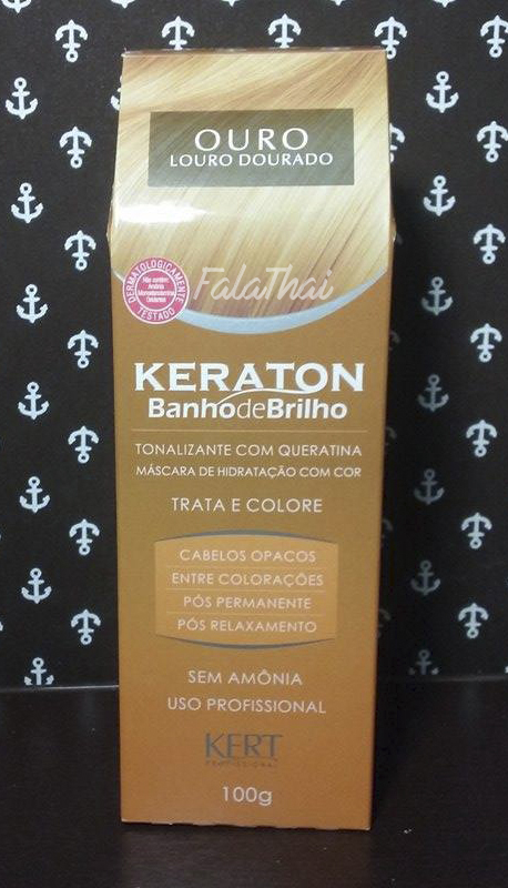 keraton banho de brilho na cor ouro