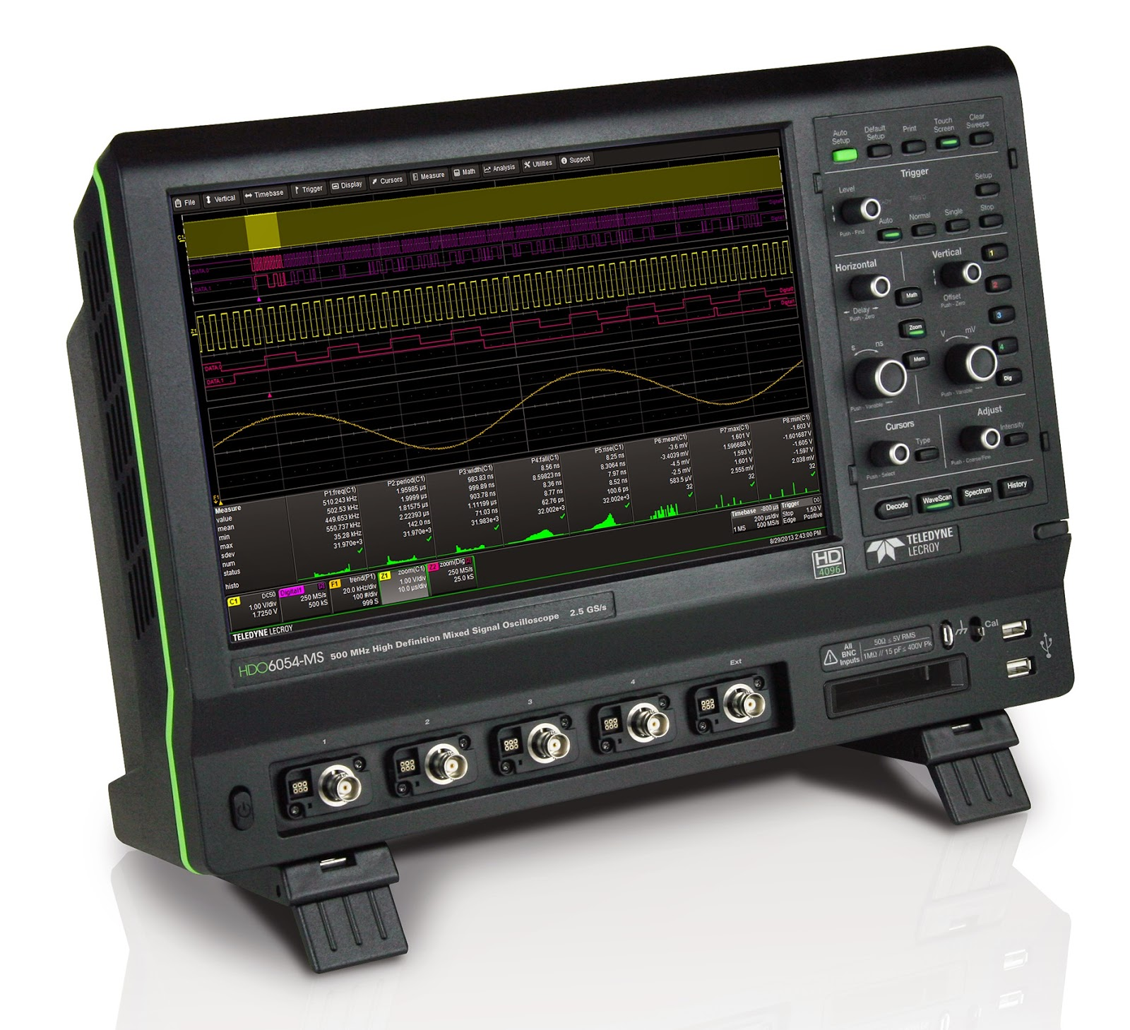 An oscilloscope such as Teledyne LeCroy's HDO6054-MS serves a very broad range of applications