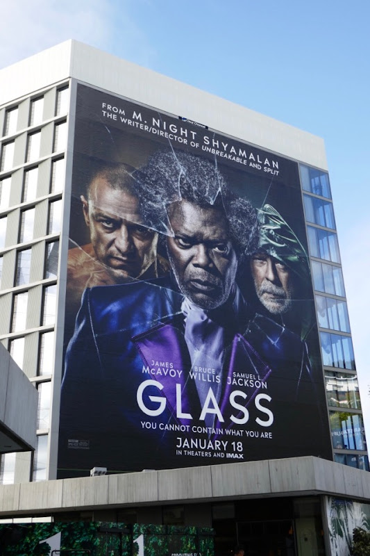 Glass film billboard