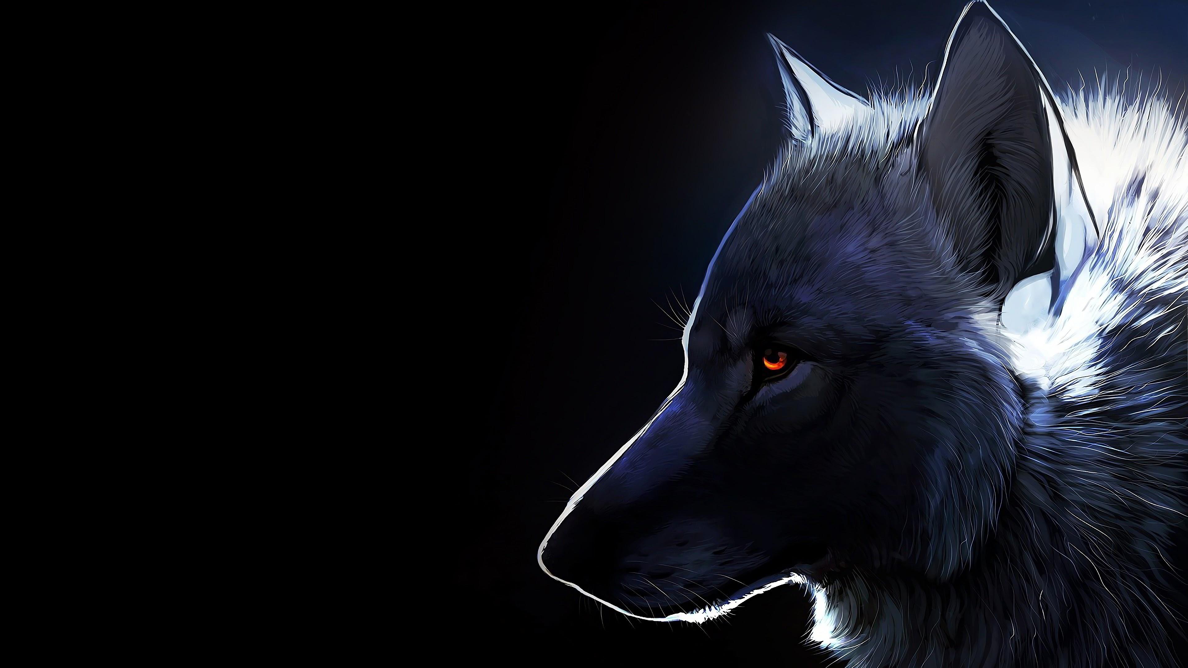 Wolf Art 4k Wallpaper 8